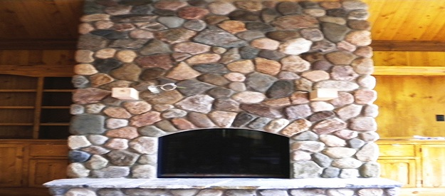 cobble blend fireplace